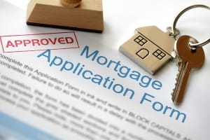 Mortgage application approved and house keys