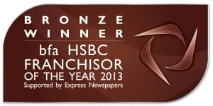 bfa HSBC Franchisor of the Year awards Bronze logo