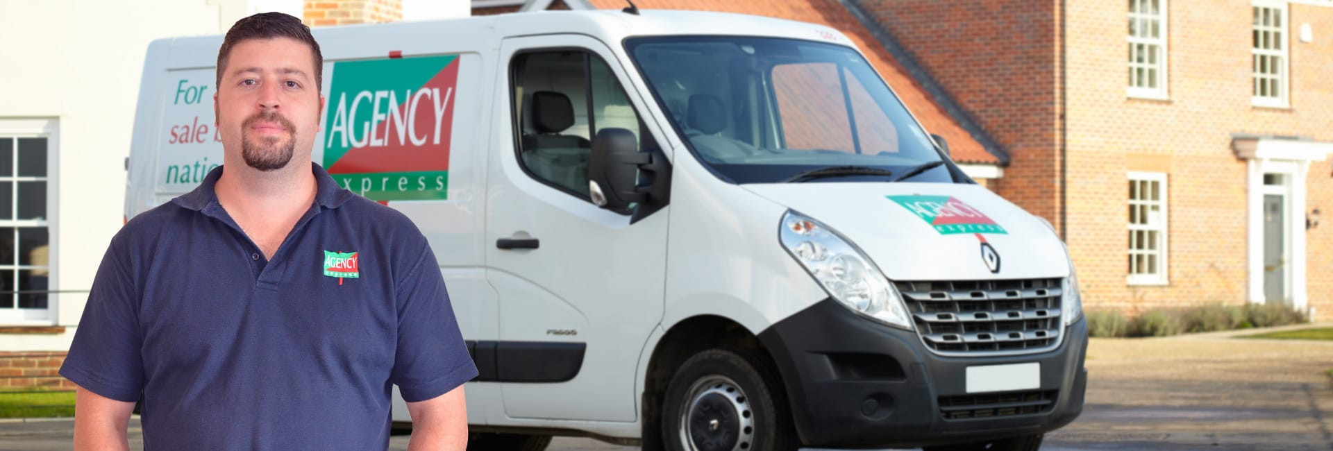 Agency Express franchise case study. Franchisee Alex Sunjich with van.