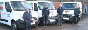 Agency Express franchise case study. Franchisee Paul Jenkinson with staff and van.