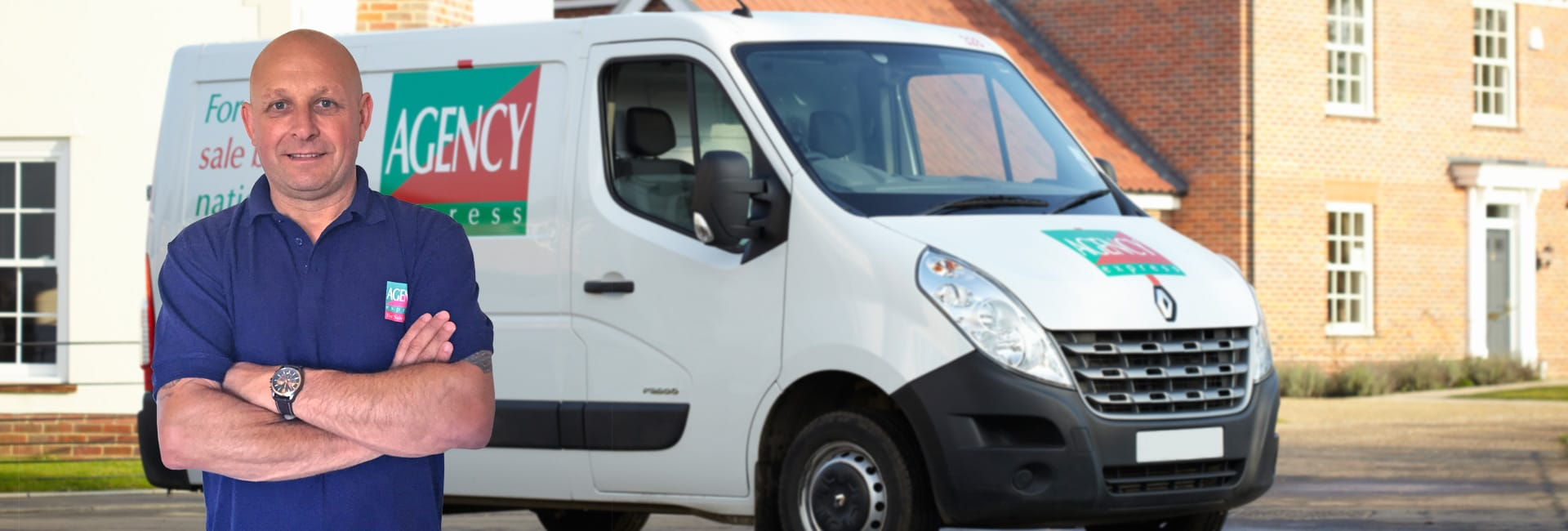 Agency Express franchise case study. Franchisee Phil Harrington with van.