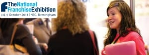 The National Franchise Exhibition 2014, 3 & 4 October 2014 at the NEC, Birmingham.