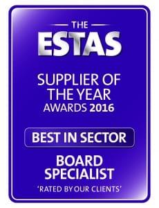 ESTAS Supplier of the Year Award 2016 - Estate Agency Board Specilist
