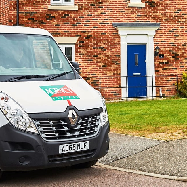 Agency Express van outside a house - Property activity index