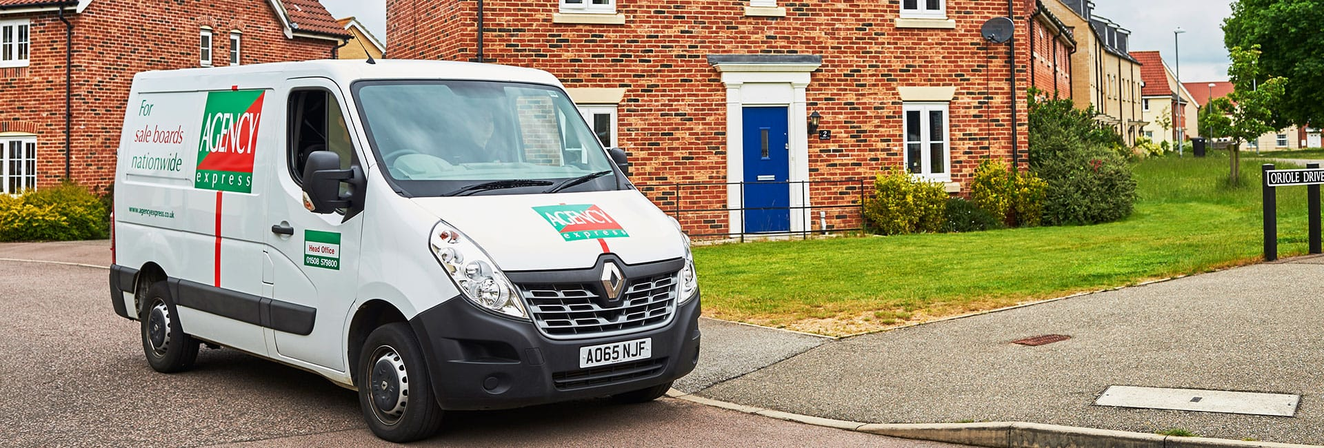 Agency Express van outside a house - Property activity