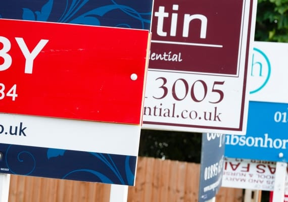 Estate agency To Let boards. Rental market activity from the Property Activity Index