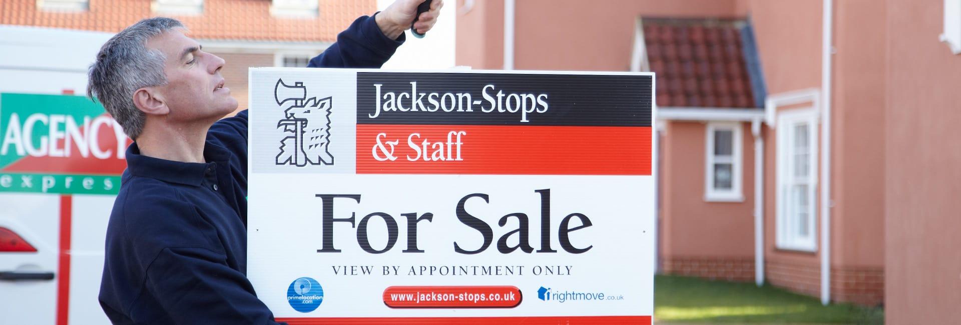Jacskon Stops estate agency baord