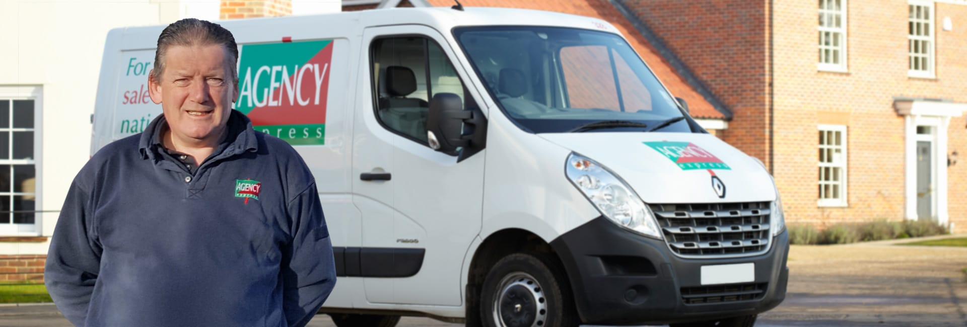 Agency Express franchise case study. Franchisee Peter Waters with van.