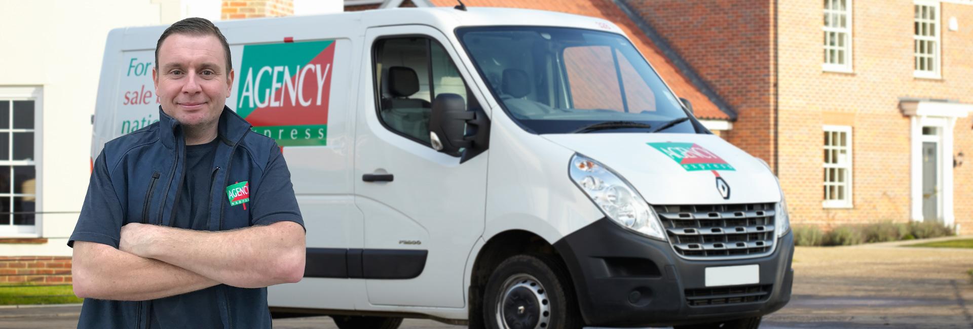 Agency Express franchise case study. Franchisee Steve Warren with van.