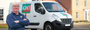 Agency Express franchise case study. Franchisee James Tipton with van.