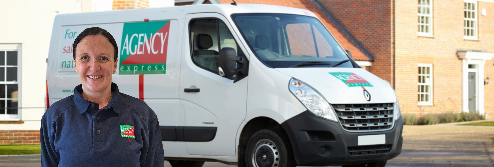 Agency Express franchise case study. Franchisee Gemma Vittraino with van.