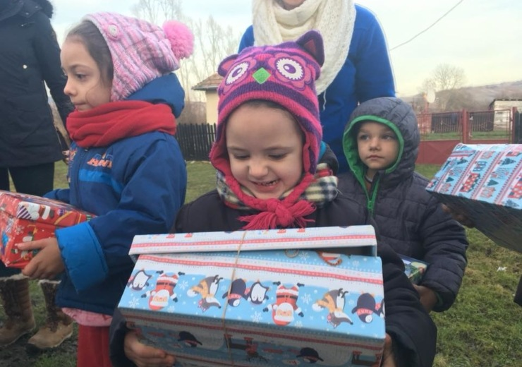 Christmas shoebox delivery Romania 2018