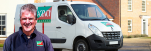 Agency Express case study. Franchisee Martin Shuker with van.