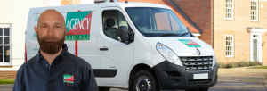 Agency Express franchise case study. Franchisee Paul Dymond with van.