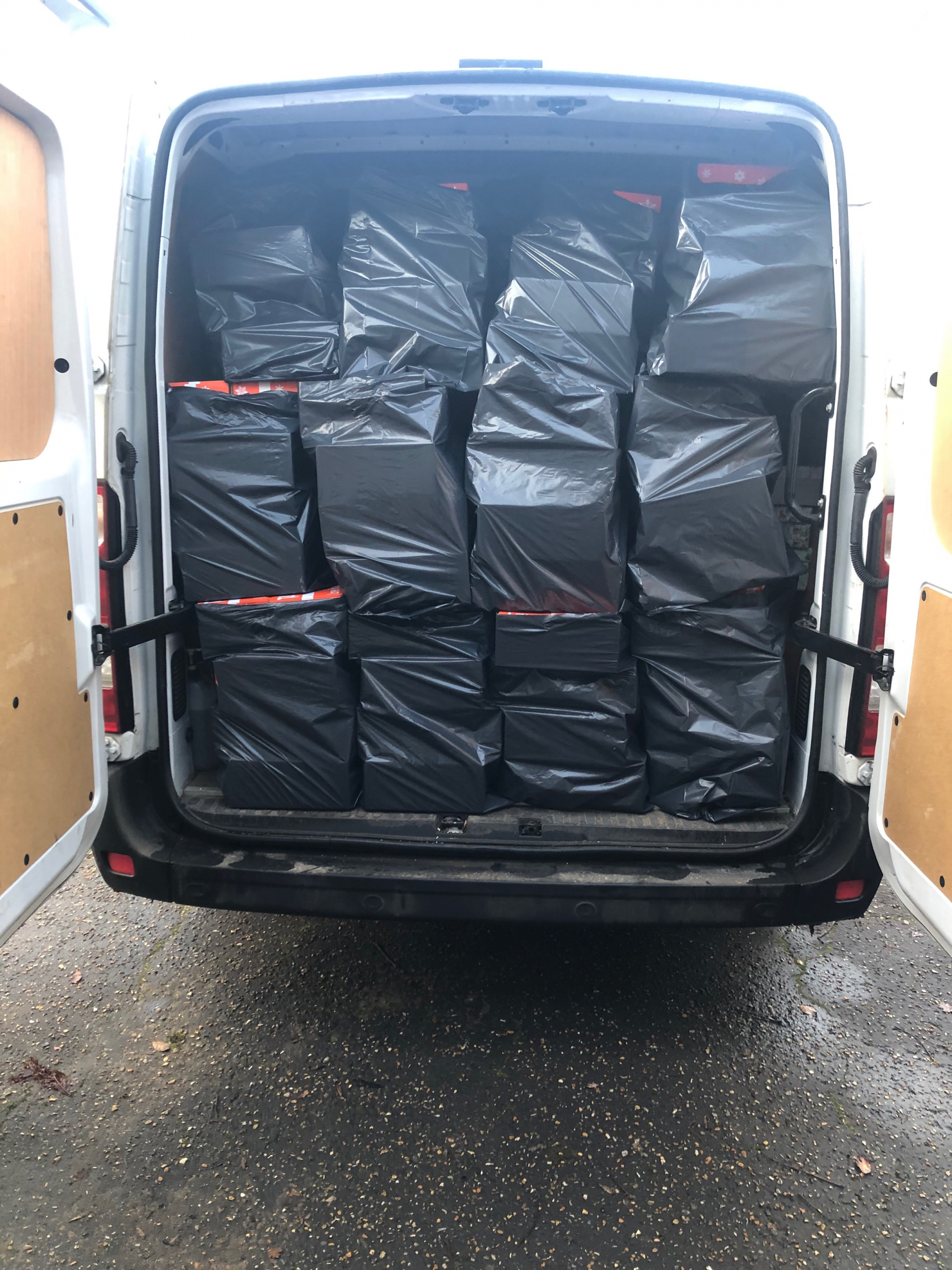 The Agency Express Christmas shoebox appeal 2020 - Loaded van