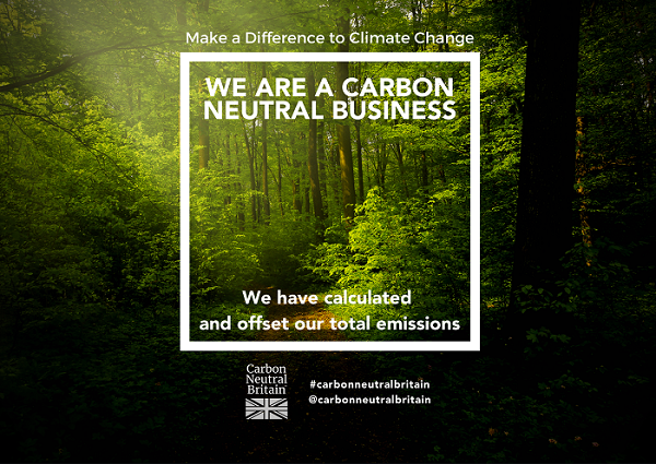 Carbon Neutral Britain Certification Logo - Agency Express