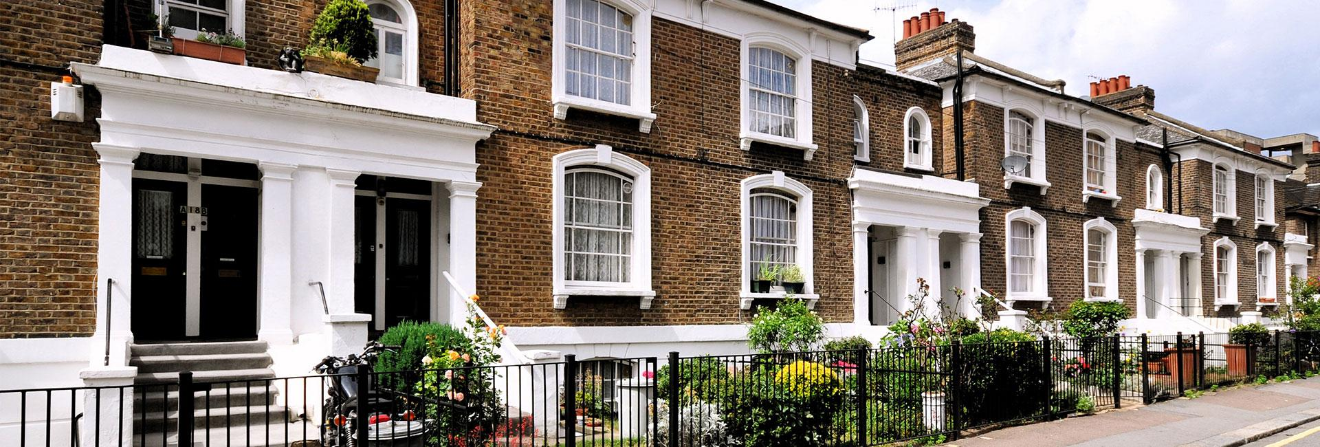 Row on London town houses. Property Activity Index
